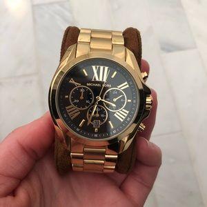 Michael Khors Gold Tone Chronographic Watch